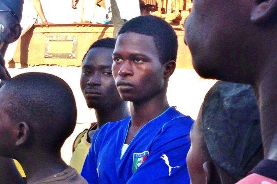 Djibi, shocked learning about slavery