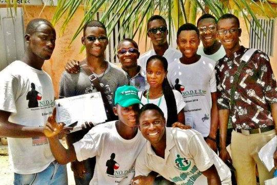NODETA volunteers, proud of a job well done