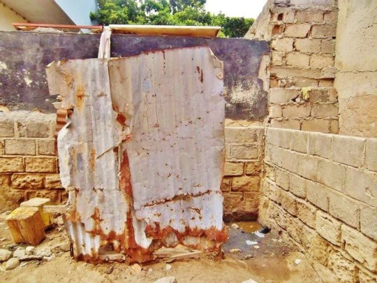 Toilet for 50 boys in daara Serigne Yoro Ba