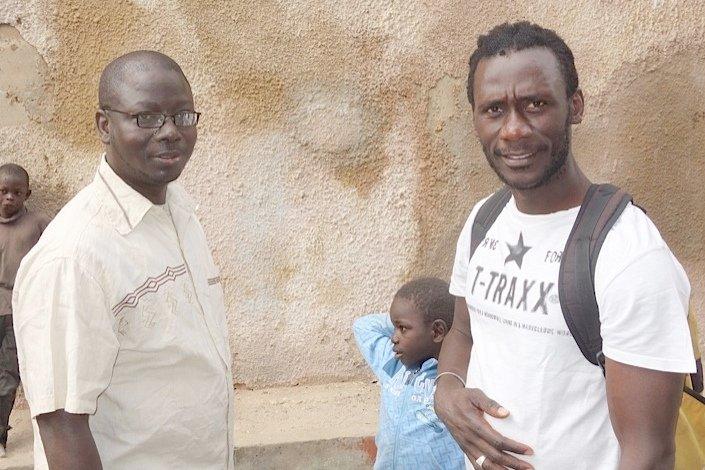 Tireless advocates Idrissa and Issa, with Malick