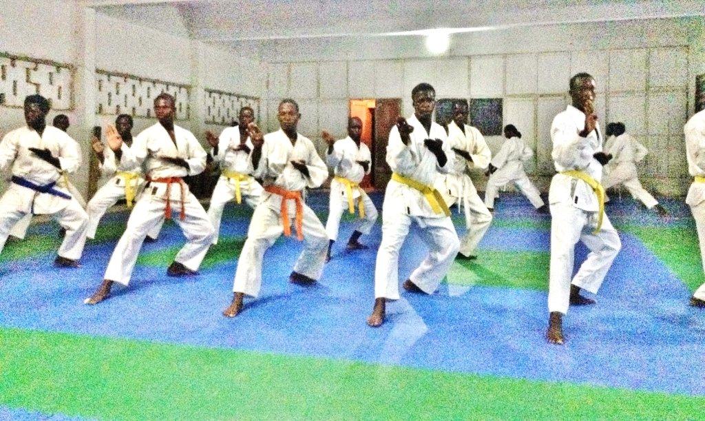 Talibes training at Sor-Karate Saint-Louis dojo