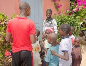 Kalidou organizing distribution of jerseys