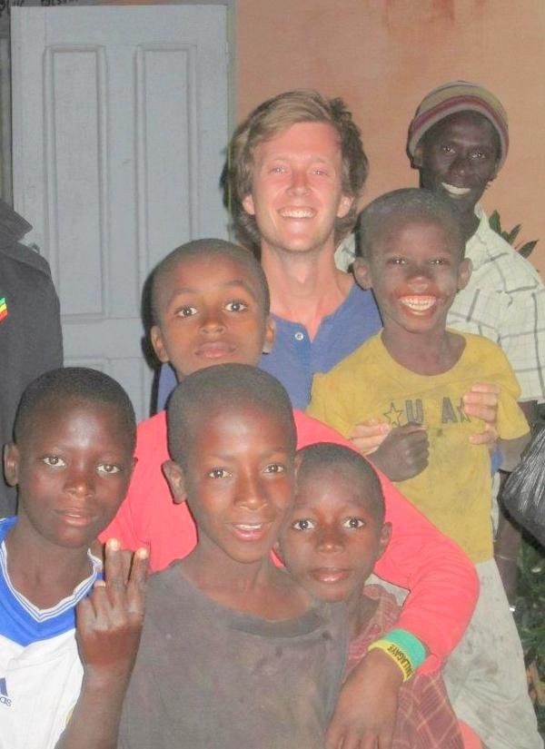 With Issa and Swedish volunteer Oscar in 2013