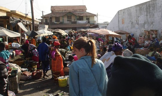 In the market, MDG's orginal site in background