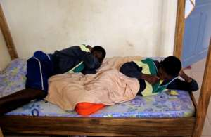 Two talibe children in MDG's emergency shelter