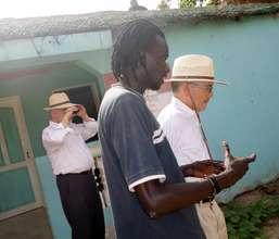 Bathe shows MDG's garden to the ambassador