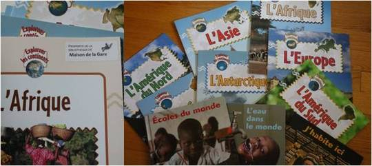 Examples of books donated by Francine Perkal