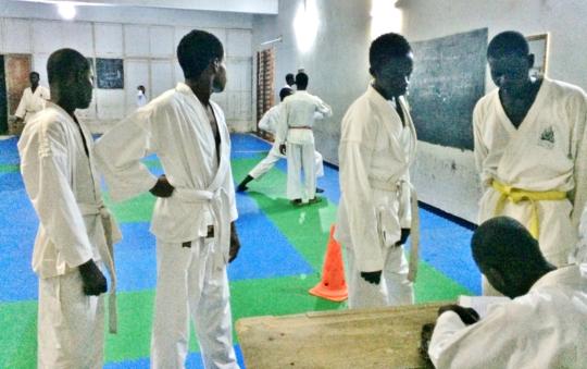 Registering new karate students at Sor-Karate