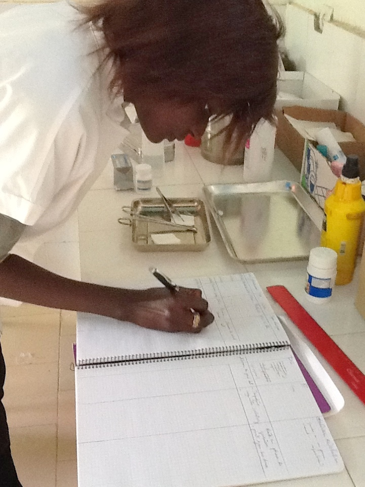 The nurses keep careful records of talibes treated