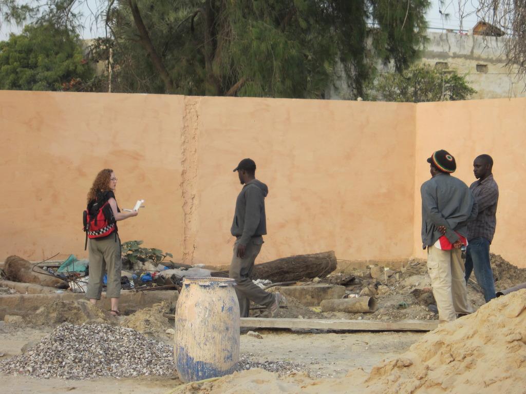 Preparing plans for the garden in MDG