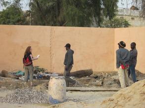 Preparing plans for the garden in MDG's center