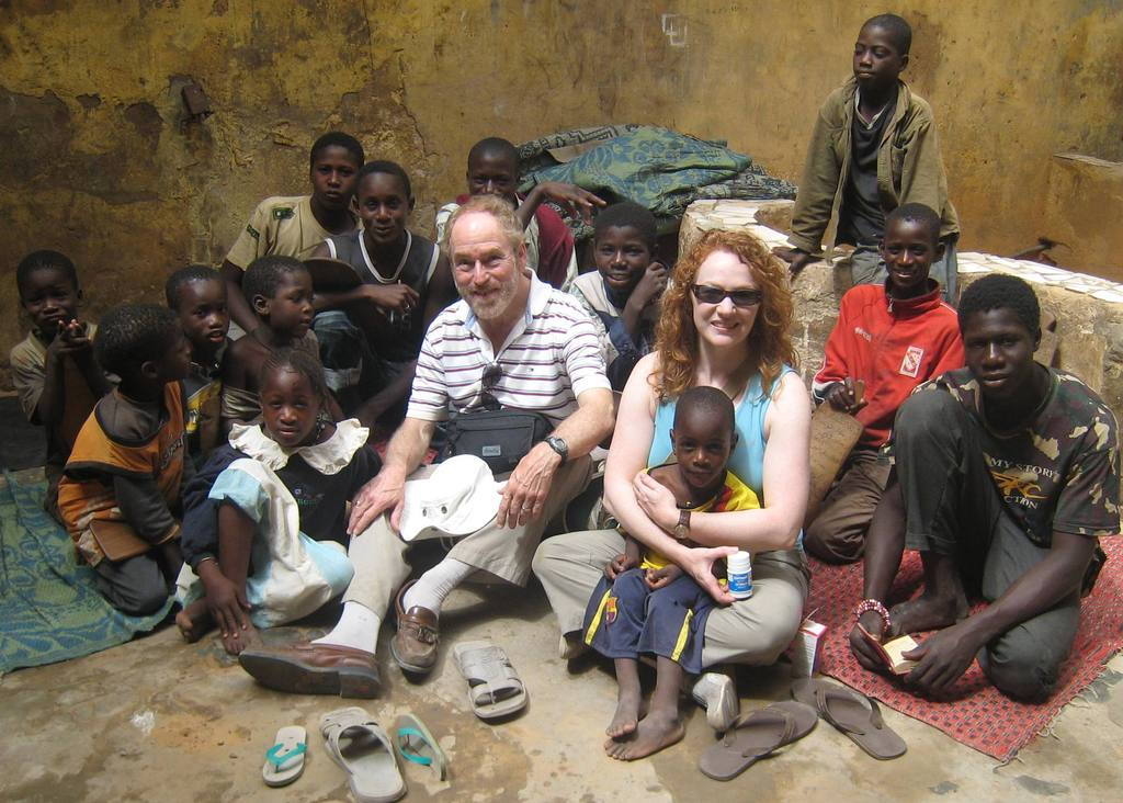 Hanging out with talibe children in a daara