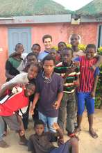 Sam with talibe children in MDG center in St.Louis