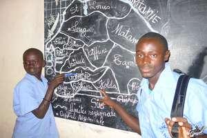 Arouna showing home area of Kolda in south Senegal