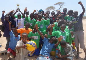 Victorious MDG team celebrates its win