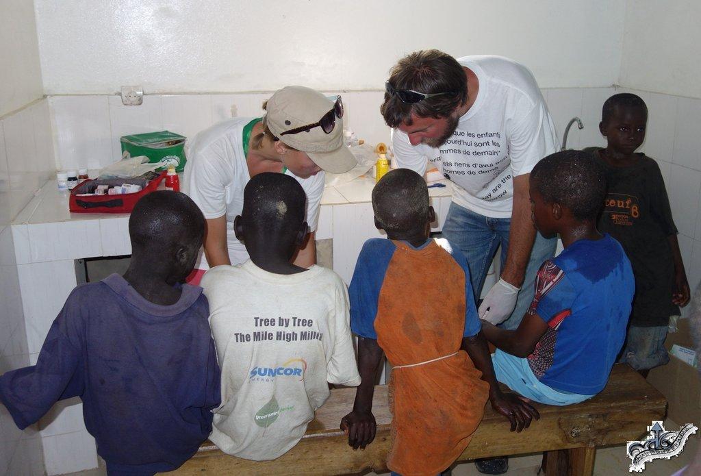 Michael & Madison treat dozens of talibe children