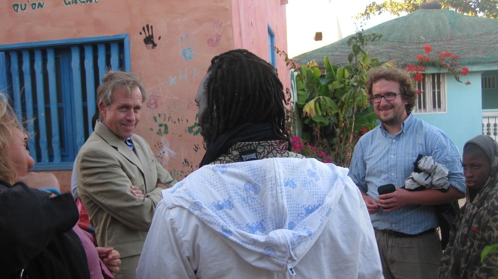 Ambassador Lukens touring the MDG center