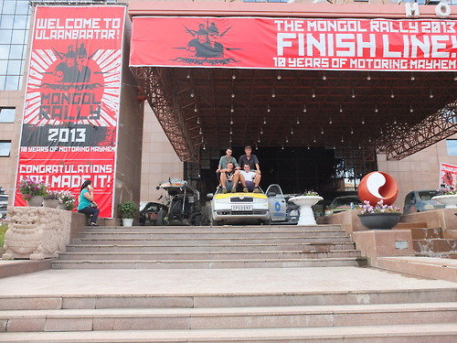 Successful arrival in Ulaanbaatar, 16,000 km later