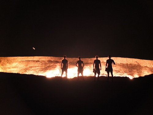 "At the ""Gate of Hell"" in Turkmenistan"