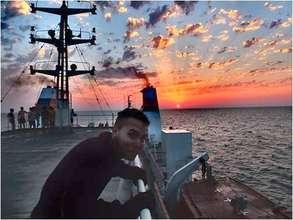 Crossing the Caspian sea