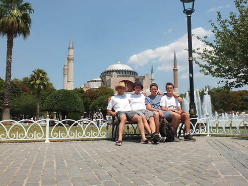 Relaxing at the Hagia Sophia, then on to Asia!