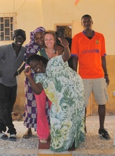 Madison with her Senegalese host family