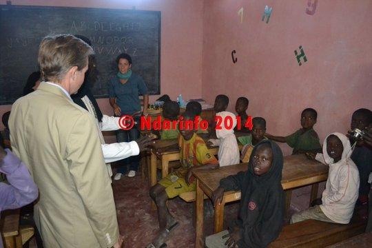 Ambassador Lukens visiting an MDG classroom