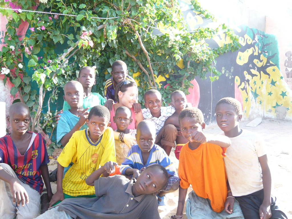 Jenny with tallibe children in MDG