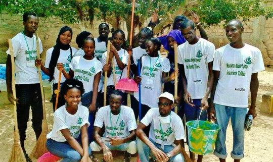 Happy volunteers, justly proud of their efforts