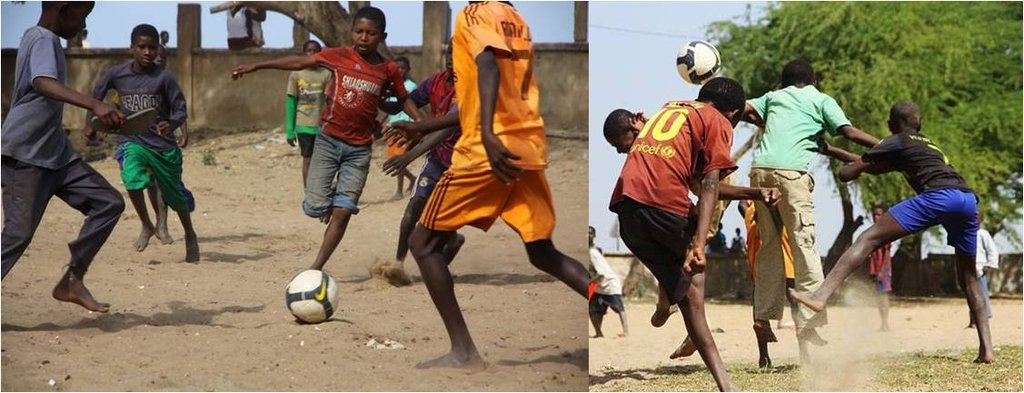 Talibes at play - Soccer matches organized by MDG