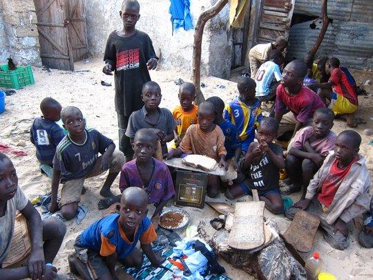 Talibe children in a Saint Louis daara