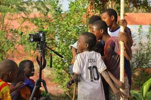 Talibes intrigued by view through Jack's camera