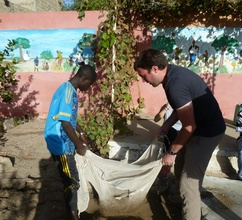 MDG's growing garden give talibes new skills