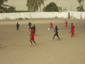 Soccer game between two talibe teams