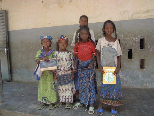 The Mbororo team girls at Gouna primary school