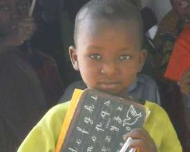 New student proude of his slate