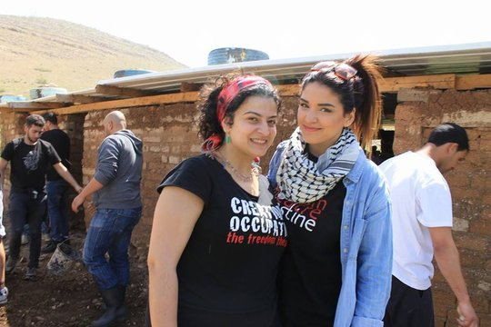 Building a school in Khirbet Samra