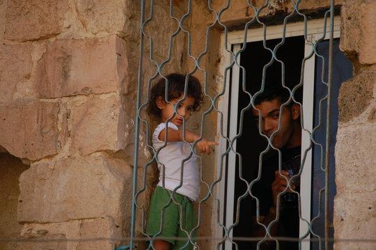 Through the barricades... in Nablus