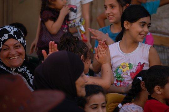 Audience members in Nablus