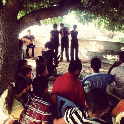 Freedom Bus performance in Nabi Saleh