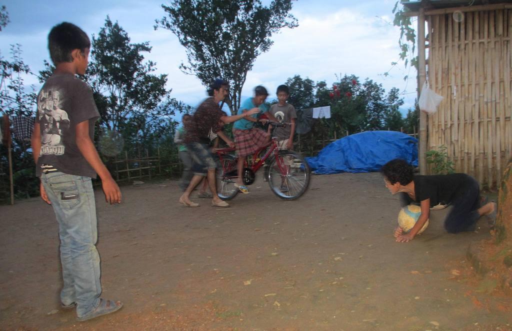 Rafael a volunteer  (Spain) bought a bike for kids