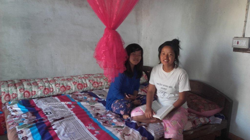 Kopila and Kamala in the room