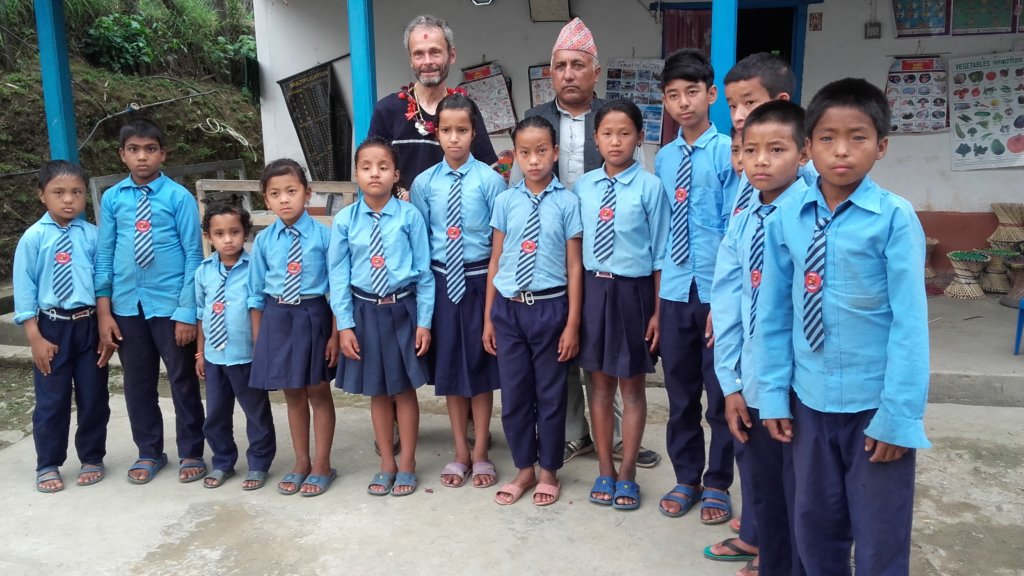 Deaf and mute Kids at  the special school.