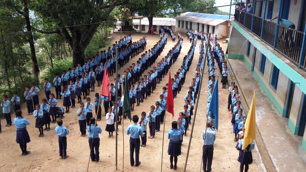 A scene of Himalaya School