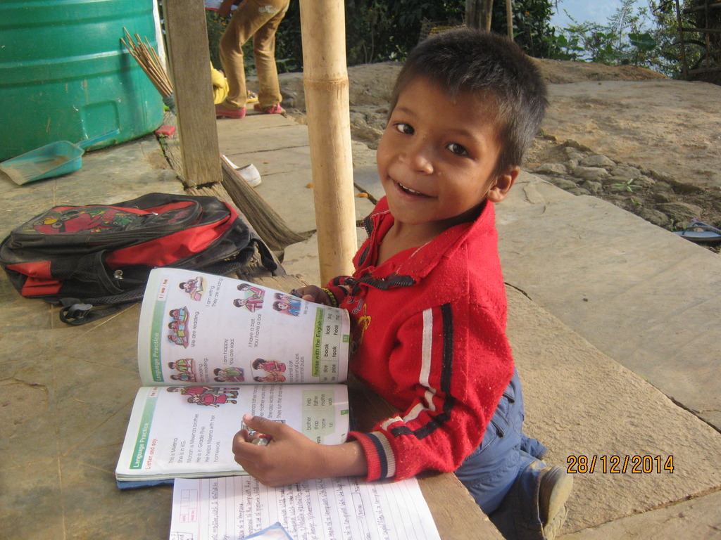 Kaj Kumar in  his studies.
