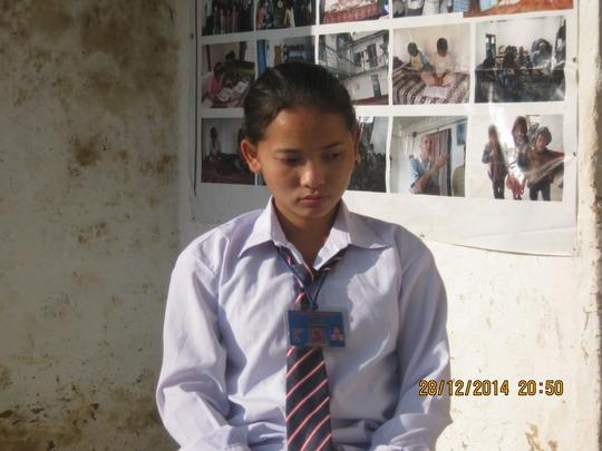 Bhumika  went Biratnagar for her eyes checkup