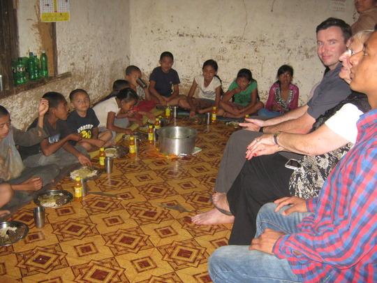 The kids celebrated Dashain Festival