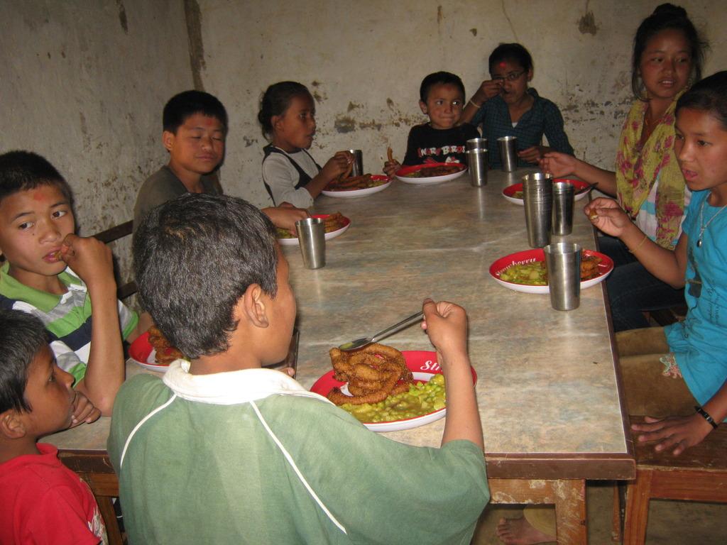 Kids  celebrating  Nepali Happy  New Year