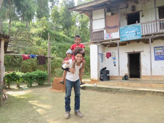 Jumoke  carrying the little kids