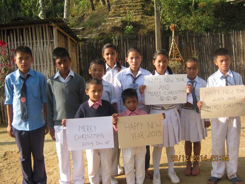 Children from the orphanage